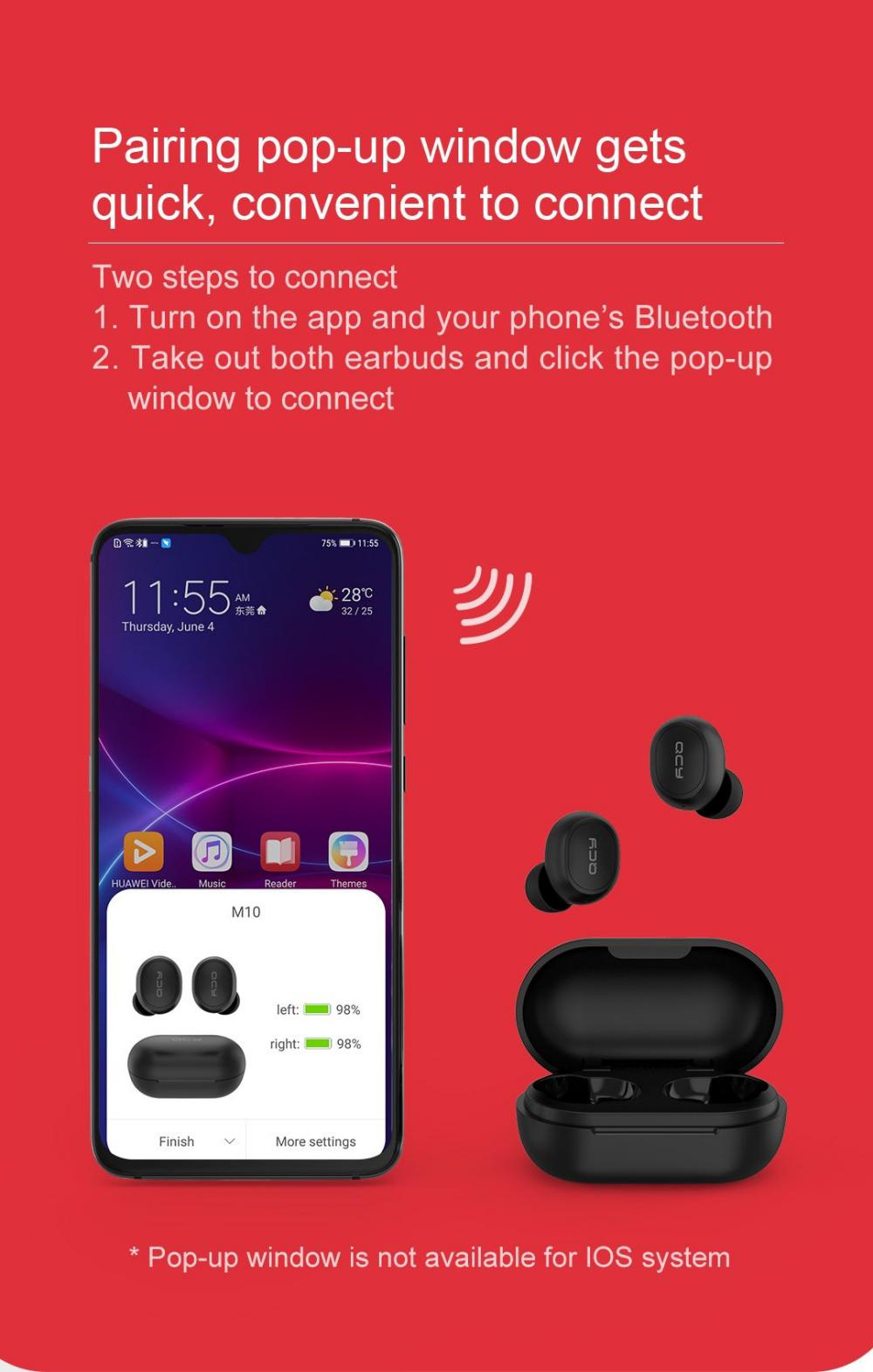 Qcy M10 Tws Bluetooth V5 0 Wireless Earphones 3d Stereo Earbuds (5)