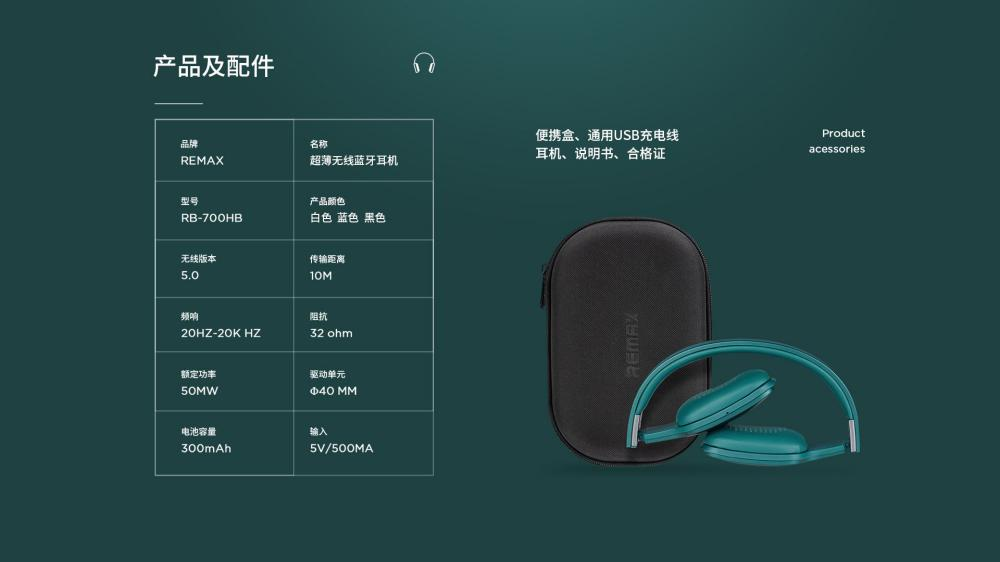 Remax Rb 700hb Hifi Wireless Bluetooth Headphones (6)