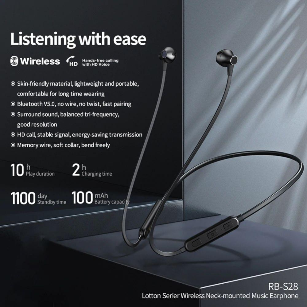 Remax Rb S28 Wireless Bluetooth Earphones (1)