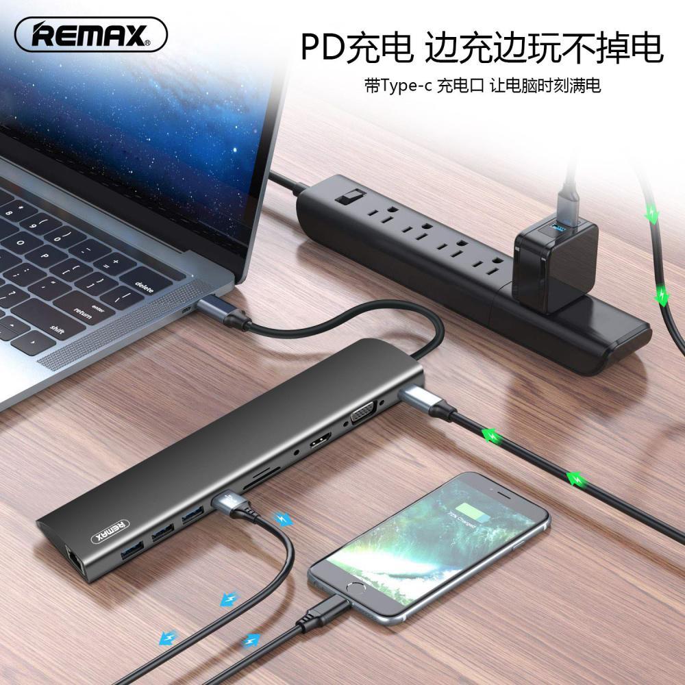 Remax Ru U70 Hanmo Series Docking Station 11 In 1 (2)