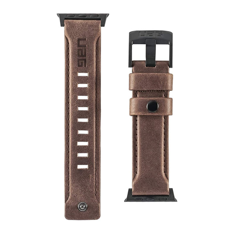 Uag Leather Strap For Apple Watch 42mm 44mm (2)