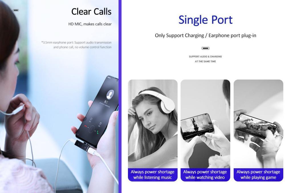 Usams Au12 Type C3 5mm Charging Audio Adapter (3)