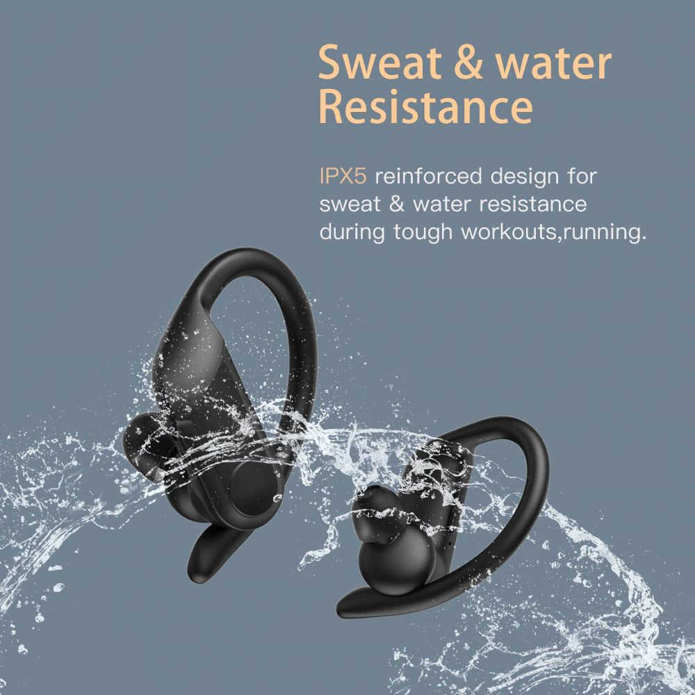 Wavefun Xbuds Pro Wireless Earbuds Touch Control With Ear Hook (2)