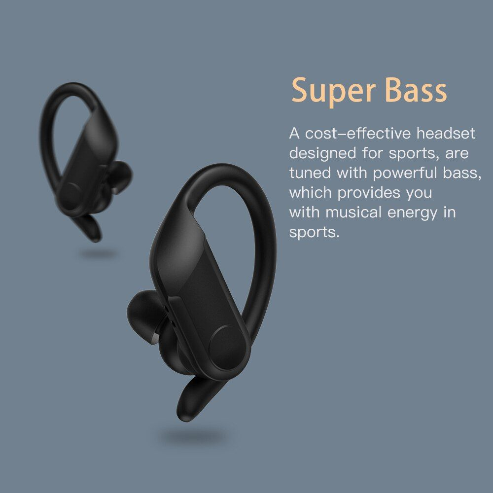 Wavefun Xbuds Pro Wireless Earbuds Touch Control With Ear Hook (4)