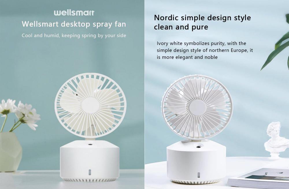 Xiaomi Wellsmart 3 In 1 Mini Cooling Fan (4)