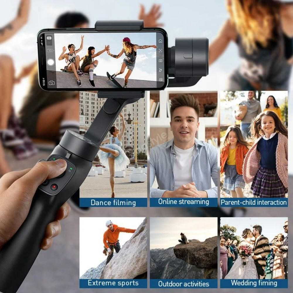 Baseus 3 Axis Handheld Gimbal Stabilizer For Mobile Action Camera (2)