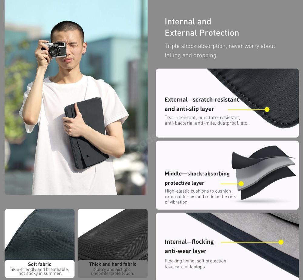 Baseus Basics Series Laptop Sleeve For Notebook Compurter (4)