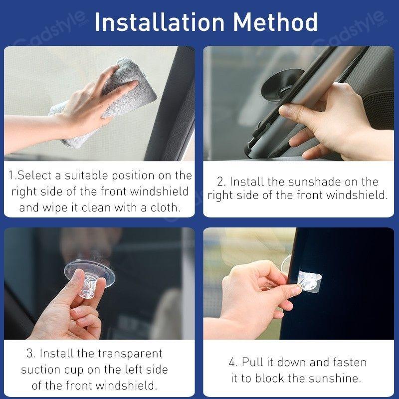 Baseus Car Sunshade Retractable Foldable Front Window Windshield (4)