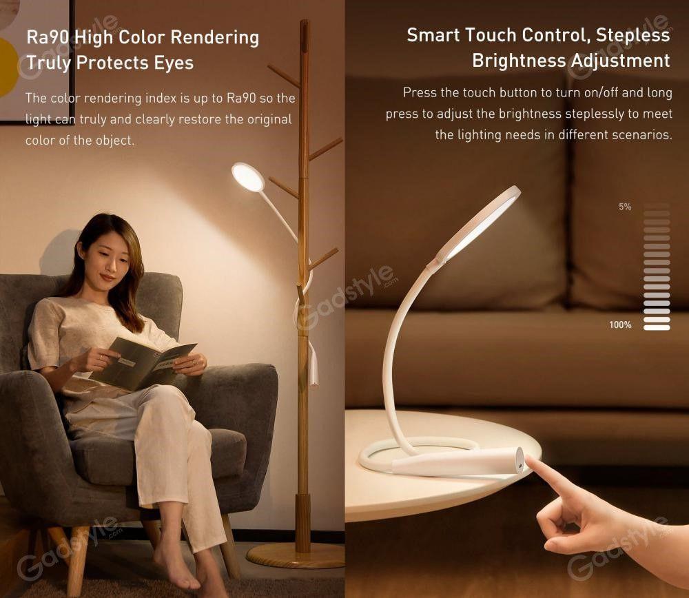 Baseus Comfort Reading Charging Uniform Light Hose Desk Lamp (2)