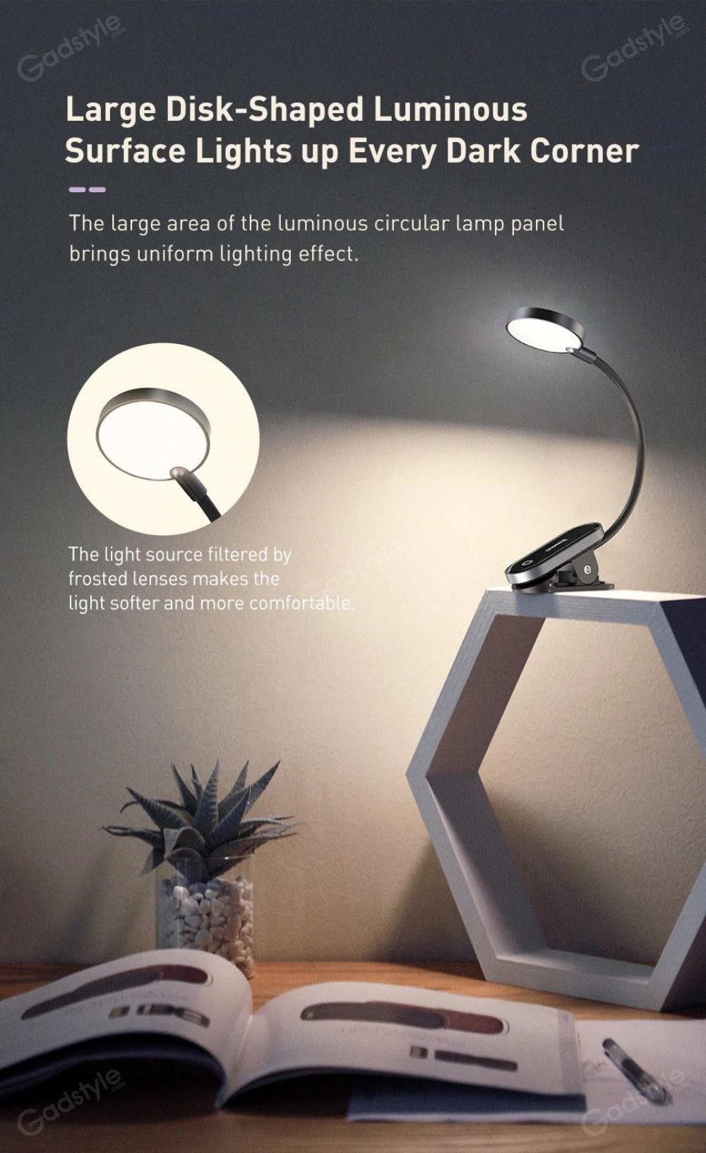 Baseus Comfort Reading Mini Clip Lamp Eye Protection Light (4)