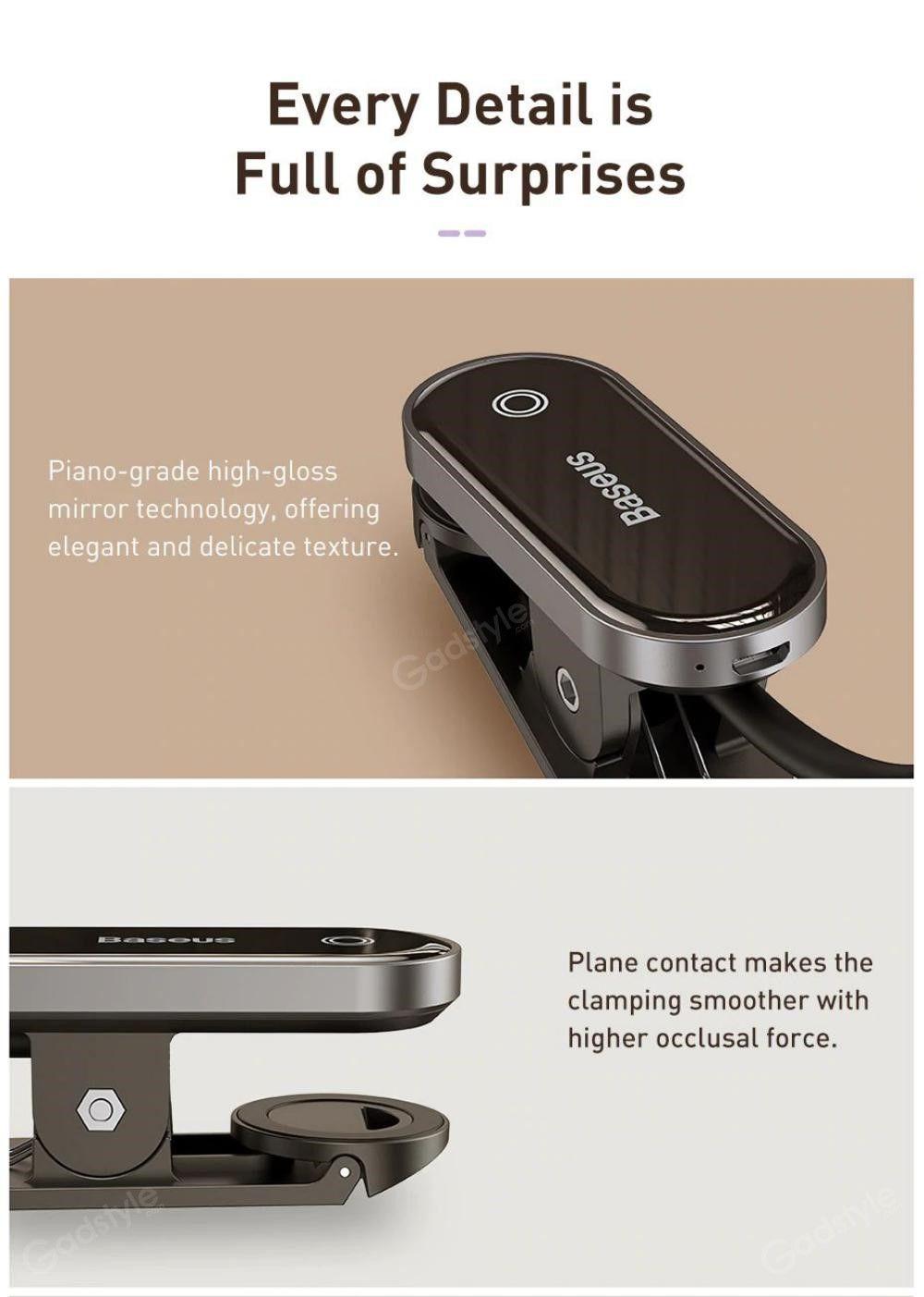 Baseus Comfort Reading Mini Clip Lamp Eye Protection Light (5)