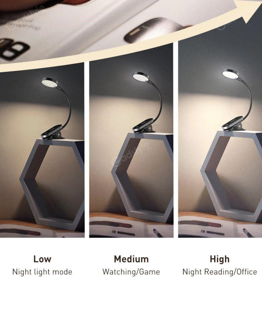 Baseus Comfort Reading Mini Clip Lamp Eye Protection Light (7)