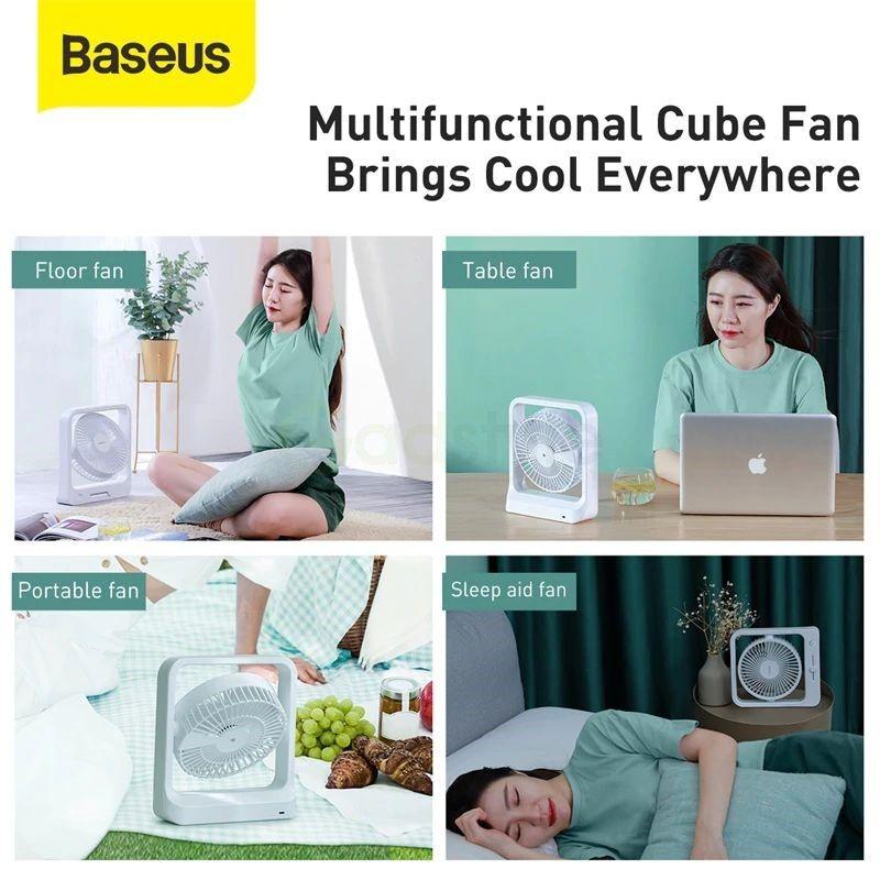 Baseus Cube Shaking Fan Desktop Desk Usb Fan (1)