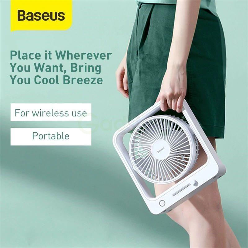 Baseus Cube Shaking Fan Desktop Desk Usb Fan (2)
