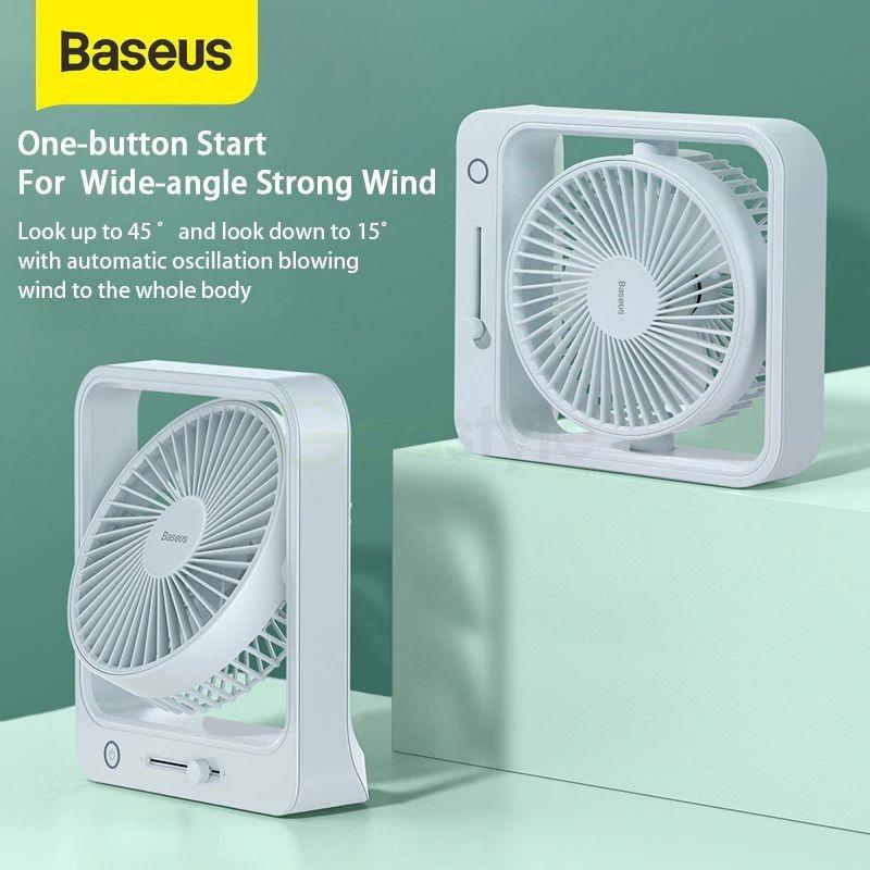 Baseus Cube Shaking Fan Desktop Desk Usb Fan (3)