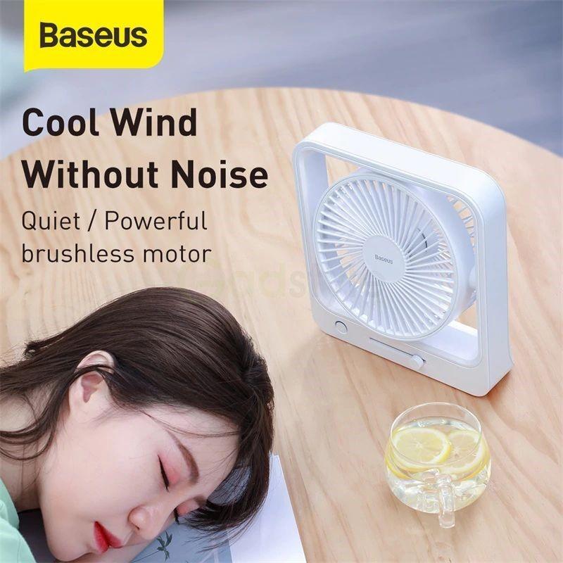 Baseus Cube Shaking Fan Desktop Desk Usb Fan (6)