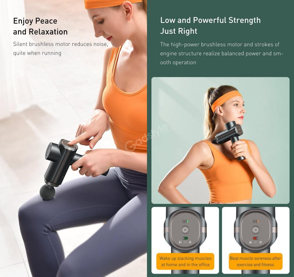 Baseus Dual Mode Massage Gun Muscle Relaxer Massager (4)
