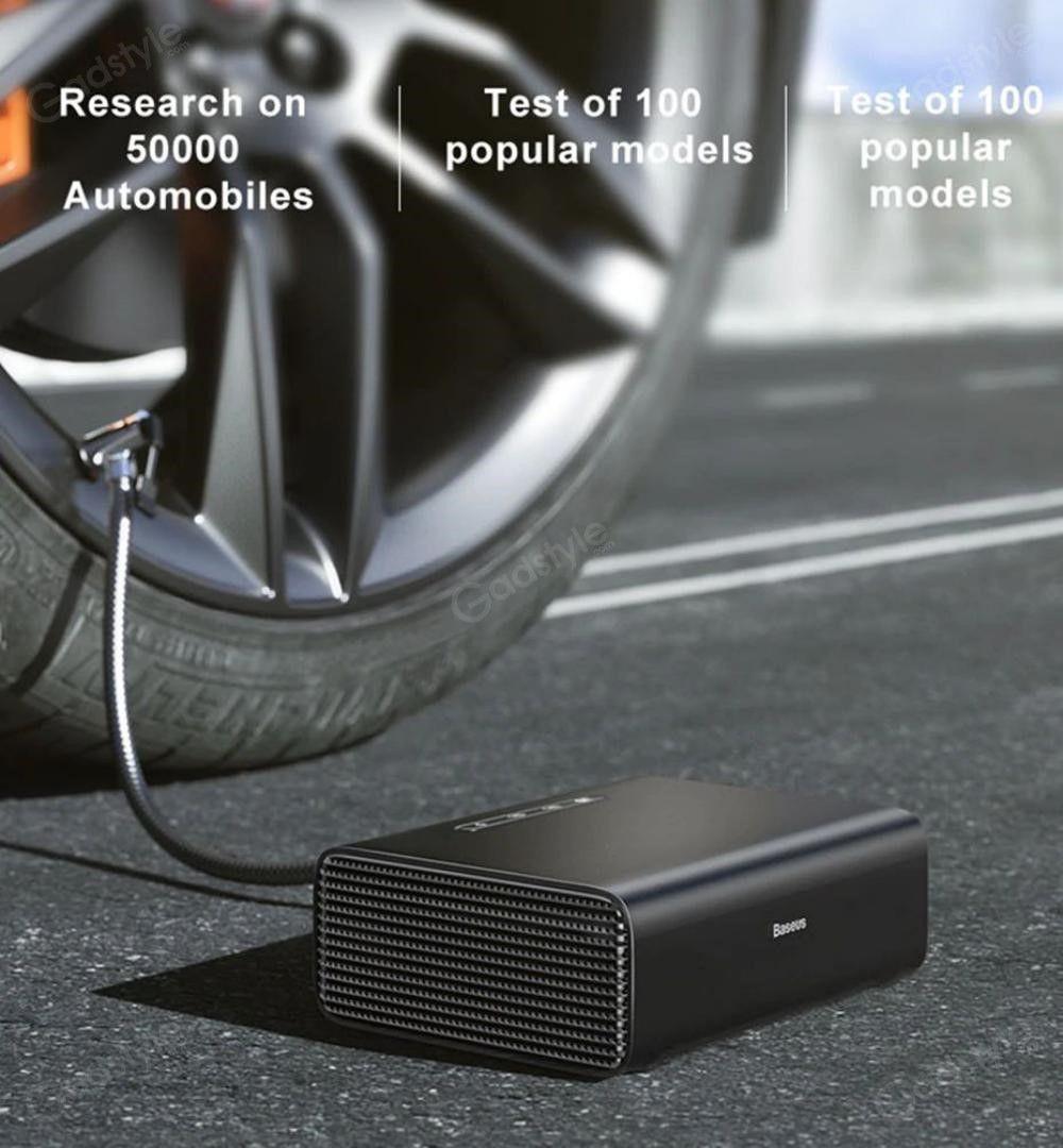 Baseus Intelligent Portable Car Air Compressor Tire Inflatable Pump (2)