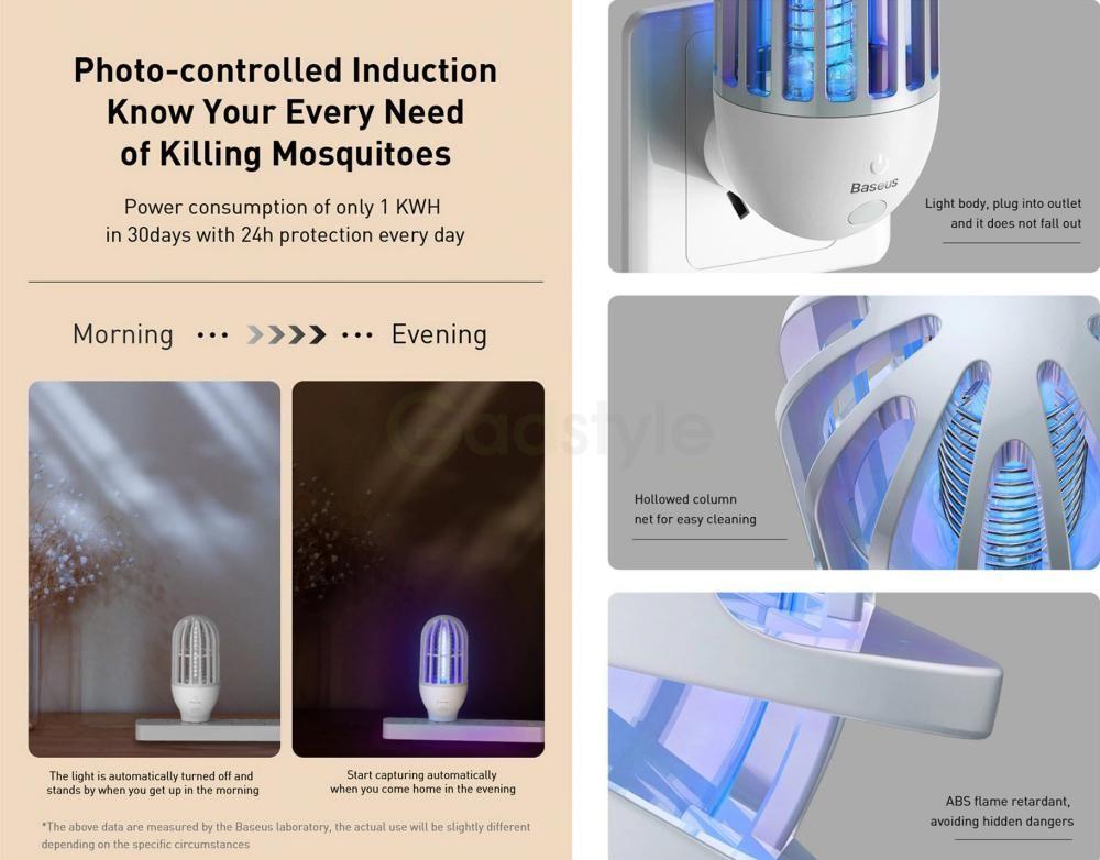 Baseus Linlon Outlet Mosquito Lamp Electric Zap (3)