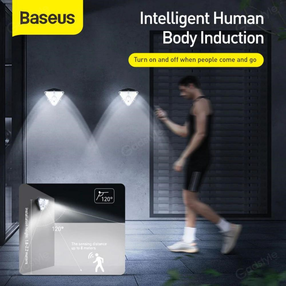 Baseus Solar Energy Human Body Induction Wall Lamp (4)