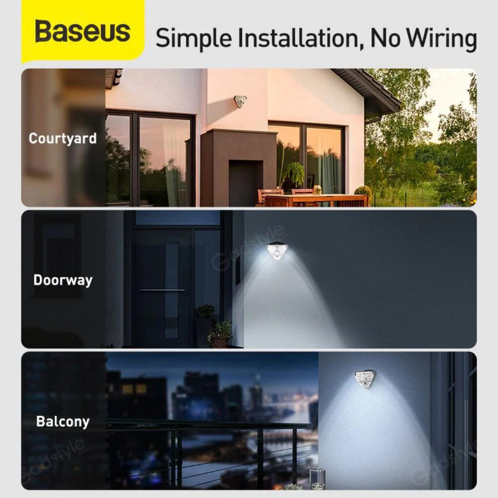 Baseus Solar Energy Human Body Induction Wall Lamp (6)