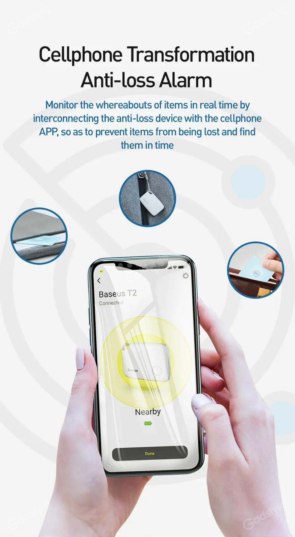 Baseus T2 Wireless Smart Tracker Anti Lost Alarm Tracker (2)