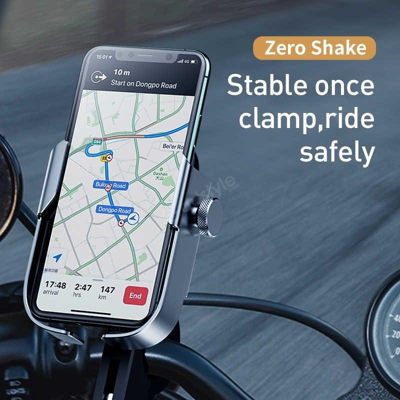 Baseus Universal Motorcycle Motorbike Scooter Bike Phone Holder Gps Stand Mount (5)