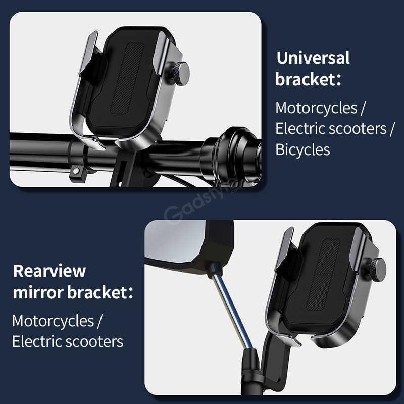 Baseus Universal Motorcycle Motorbike Scooter Bike Phone Holder Gps Stand Mount (6)