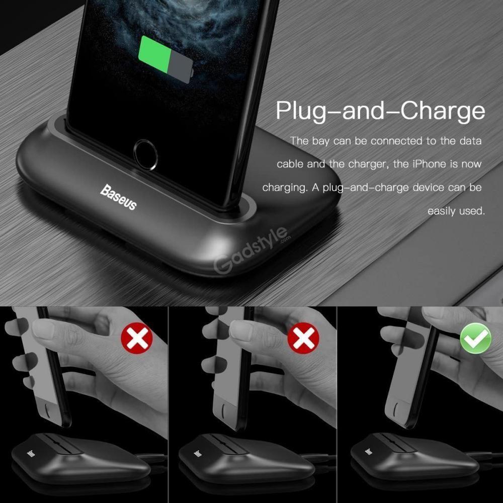 Baseus Wireless Charger Little Volcano Desk Charging Station (1)