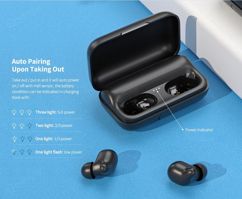 Haylou T15 2200mah Touch Control Wireless Earbuds (1)