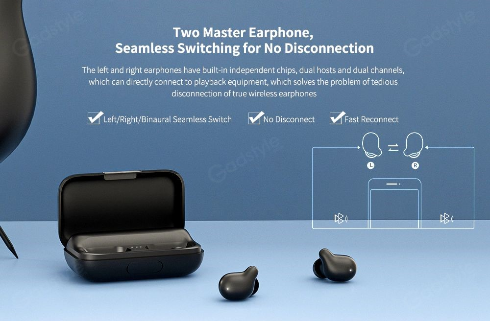 Haylou T15 2200mah Touch Control Wireless Earbuds (5)