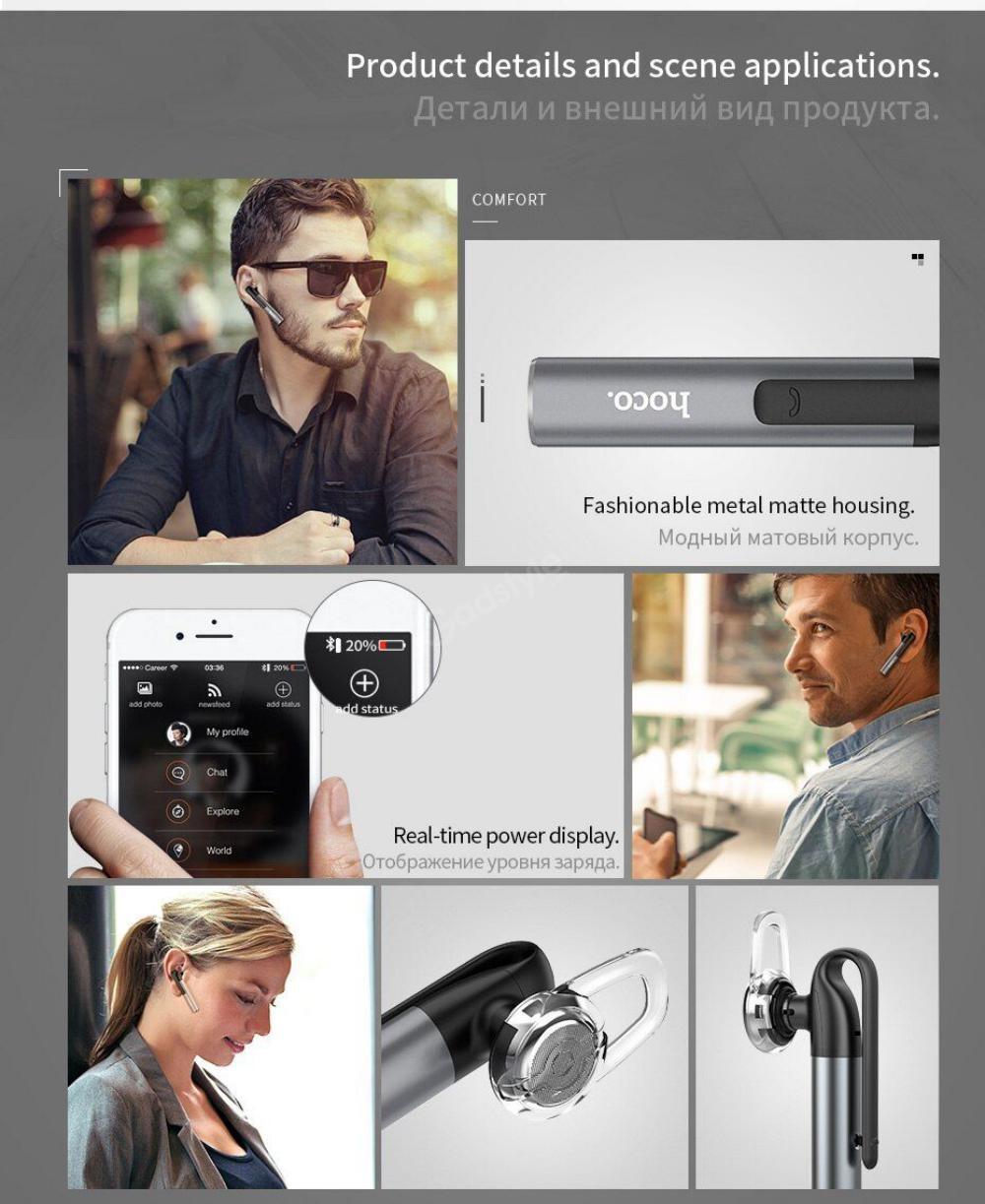 Hoco E21 Mini Portable Wireless Bluetooth Single Earphone (6)