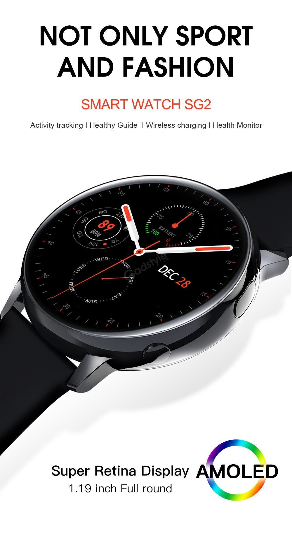 Lemfo Sg2 Full Touch Amoled Screen Smart Watch (6)