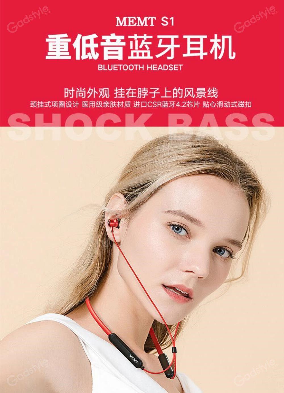 Memt S1 Sports Bluetooth Neckband Earphones (1)