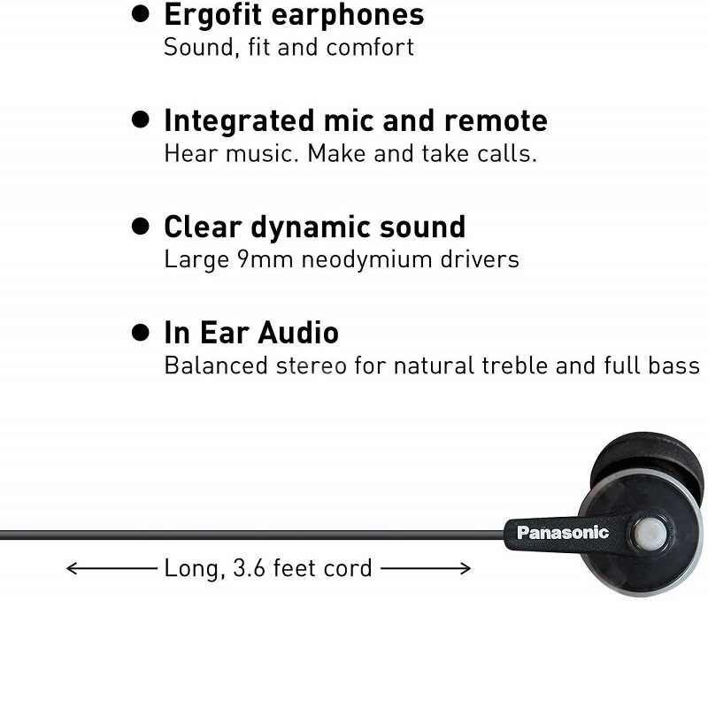 Panasonic Ergofit In Ear Earbud Balanced Rich Bass (1)