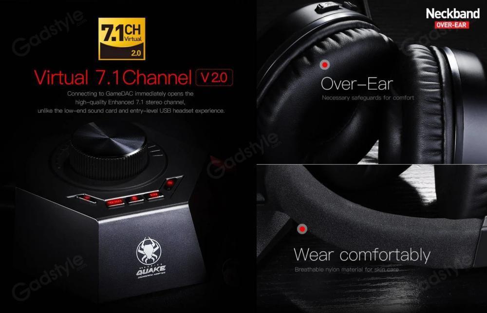 Plextone G600 Gaming Wired Dynamic Headphonegamedac (2)