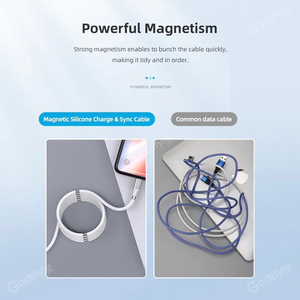 Rock Magnetic Data Cable Self Winding Fast Charging Data Cable For Iphone (1)