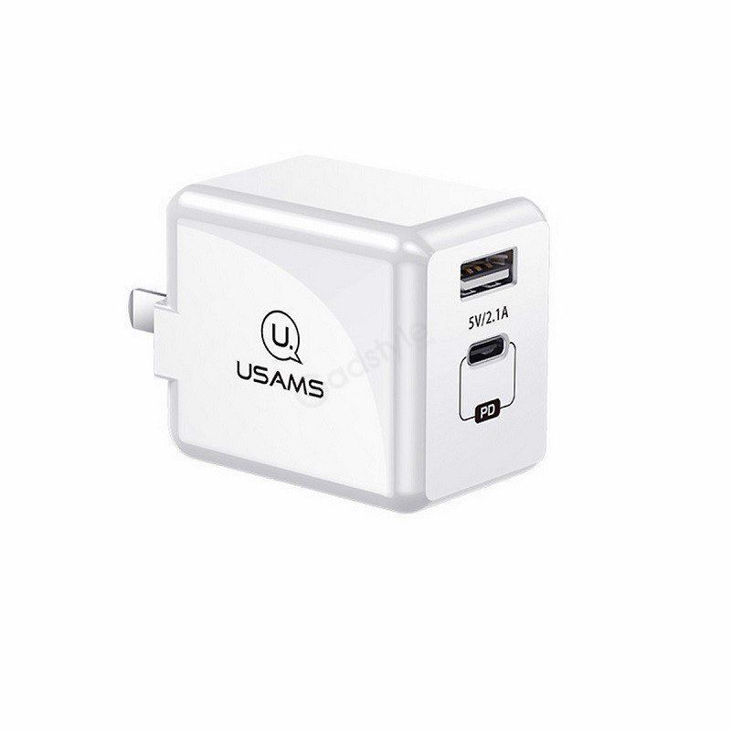 Usams T4 Adapter Fast Charging Pd Travel Charge (1)