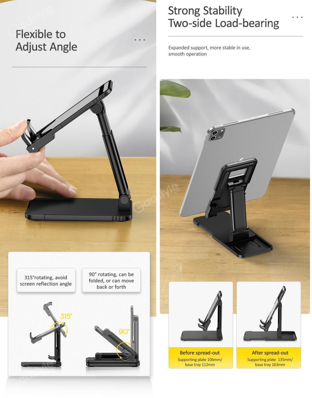 Usams Us Zj059 Retractable Foldable Desktop Phone Tablet Stand (3)