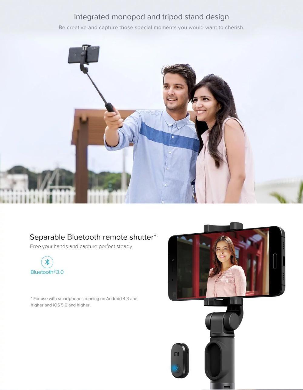Xiaomi Mi Bluetooth Selfie Stick With Tripod (1)