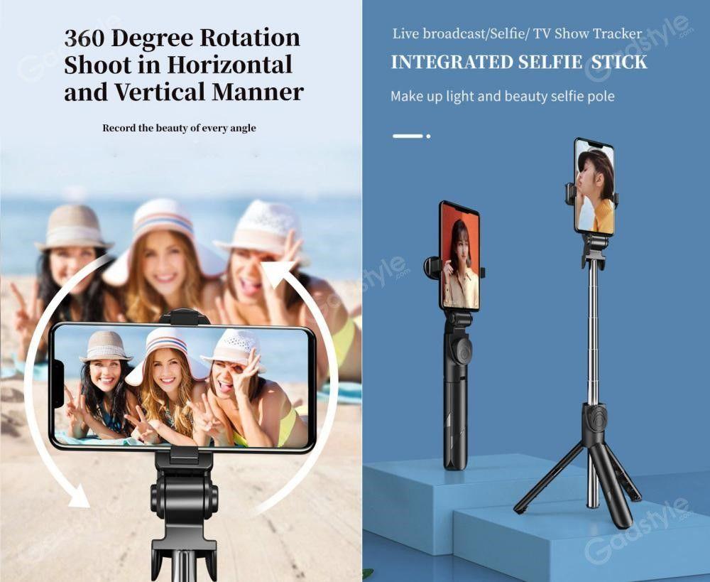 Xt02 Wireless Bluetooth Tripod Mobile Phone Selfie Stick (1)