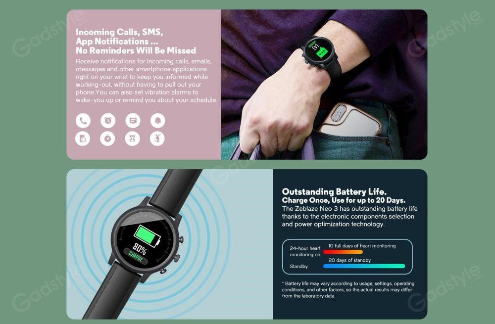 Zeblaze Neo 3 Ip68 Waterproof Smart Watch (1)