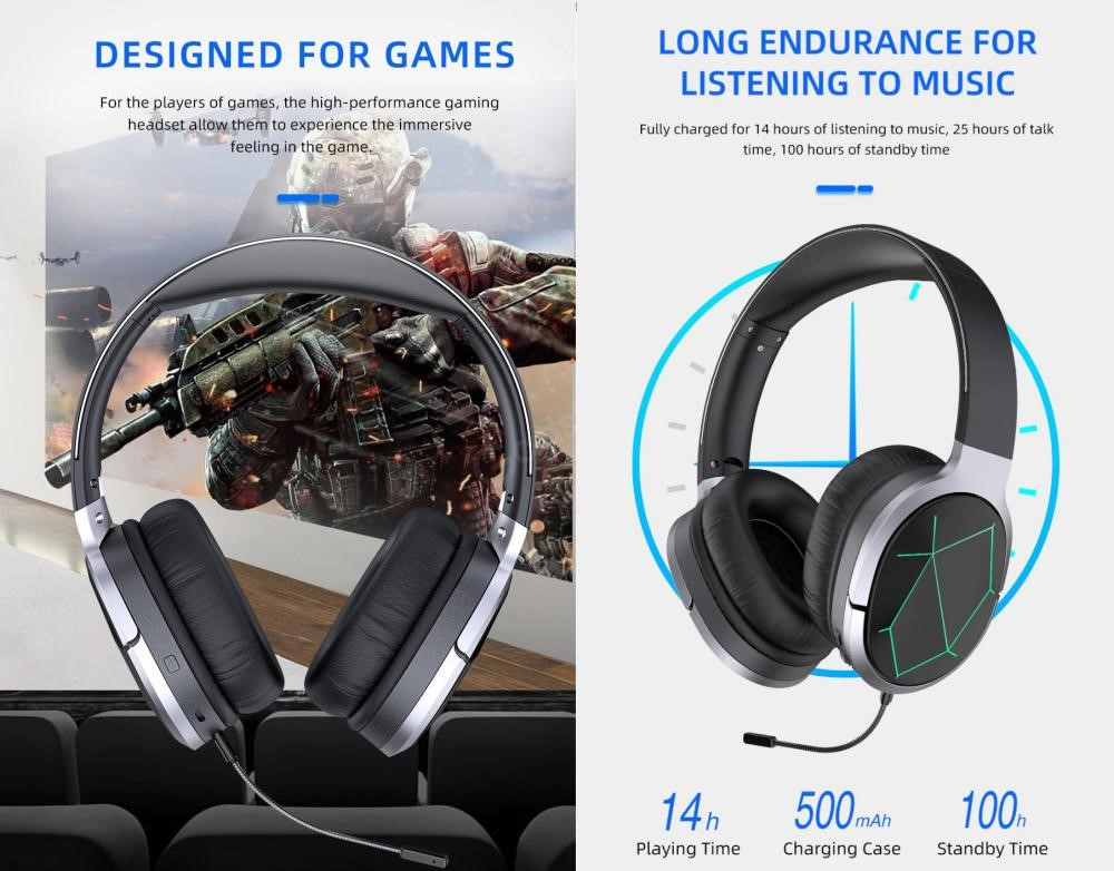 Awei A799bl Foldable Gaming Wireless Headphone (2)