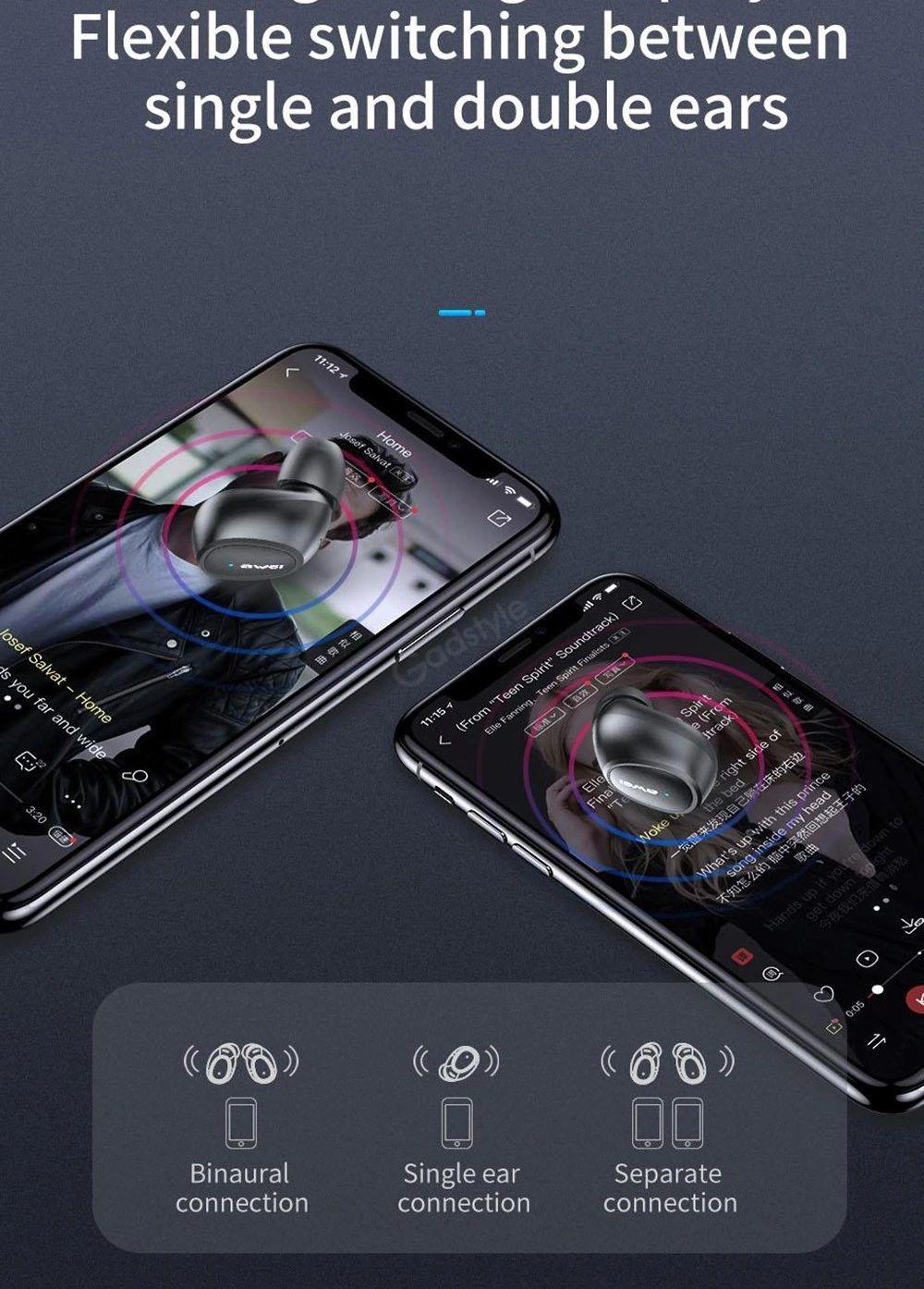 Awei T16 True Bluetooth Wireless Earbuds (4)