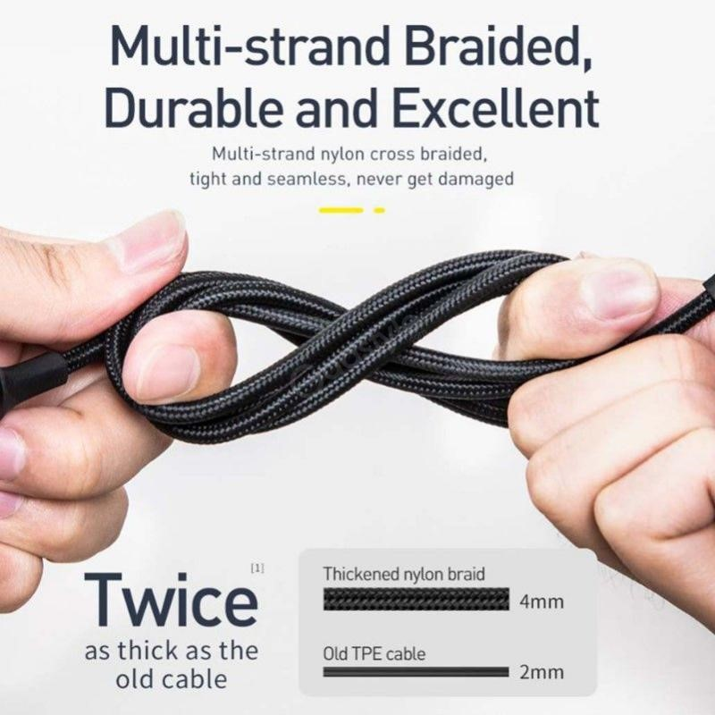 Baseus 2 In 1 Twins Cable Type C To Type C 60w Lightning (3)