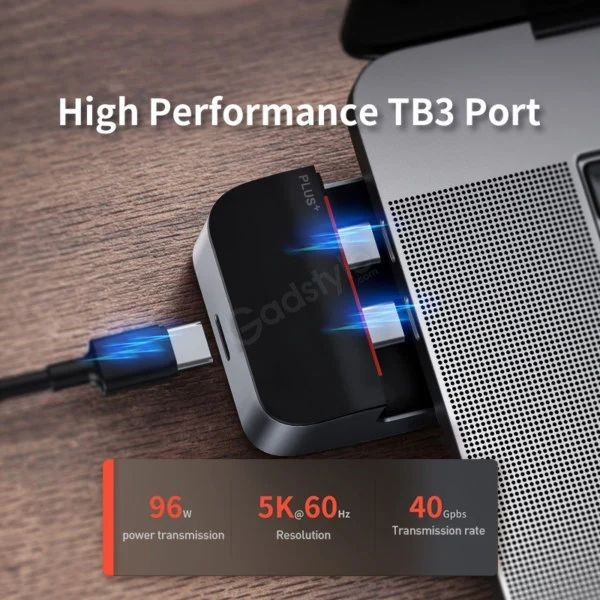 Baseus Armor Age Type C Bracket Multifunctional Hub Adapter For Macbook Pro (2)