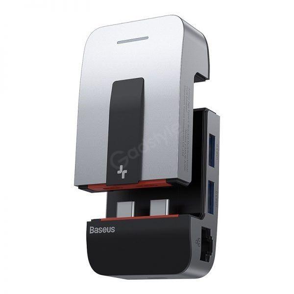 Baseus Armor Age Type C Bracket Multifunctional Hub Adapter For Macbook Pro (3)