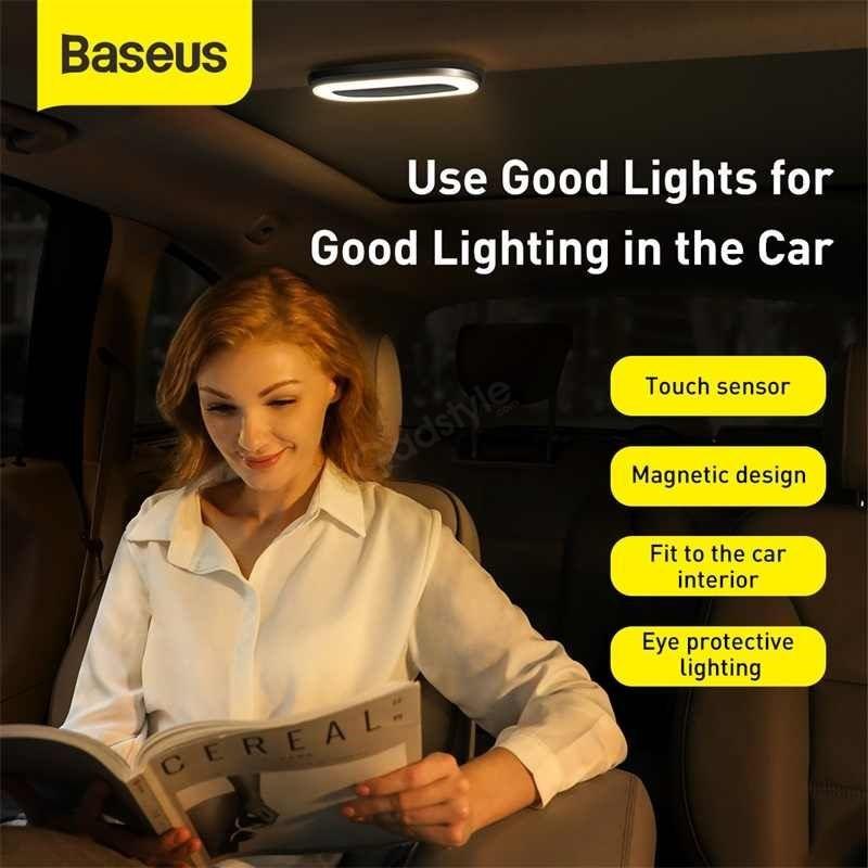 Baseus Car Interior Light Reading Lamp Rechargeable Car Ceiling Lamp (5)