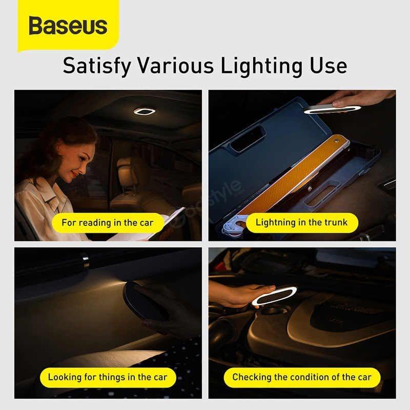 Baseus Car Interior Light Reading Lamp Rechargeable Car Ceiling Lamp (6)