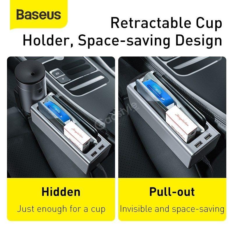 Baseus Deluxe Metal Armrest Console Organizer Dual Usb Power Supply (7)